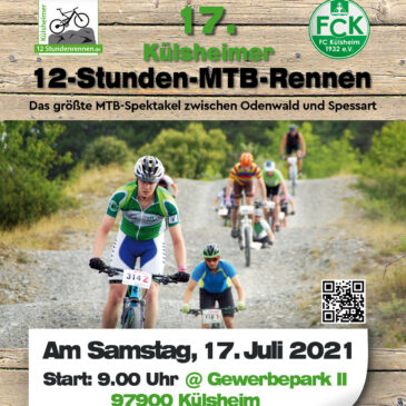 NEUER TERMIN: 17. 12-Stunden-MTB-Rennen am 17. Juli 2021